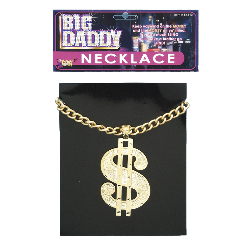 Necklace Dollar Sign Jumbo 100-108319