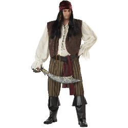 Rogue Pirate Adult Plus Costume 100-145909