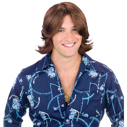 Ladies Man Brown Wig 100-145750