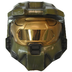 Halo 3 Master Chief 2 piece Vacuform Mask Adult  100-150235