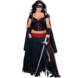 Lady Zorro Adult Plus Costume 100-150459