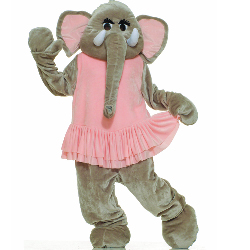 Elephant Plush Economy Mascot Adult Costume 100-152354
