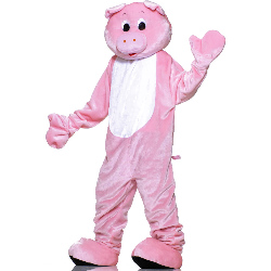 Pig Plush Economy Mascot Adult Costume 100-152355