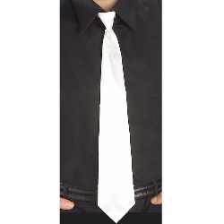 White Long Tie 100-152474
