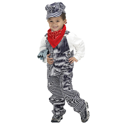 Jr. Train Engineer Suit Toddler / Child Costume 100-153096