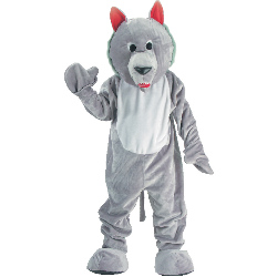 Hungry Wolf Economy Mascot Adult Costume 100-153641