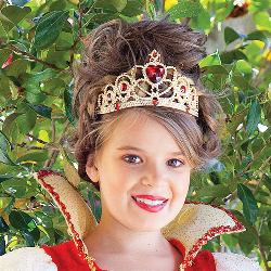 Red and Gold Princess Child Tiara 100-155254
