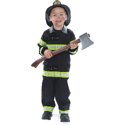 Firefighter Black Child Costume 100-156923