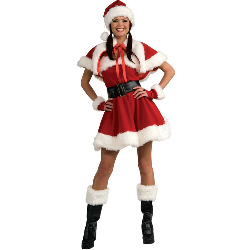 Velvet Miss Santa Adult Costume 100-180272