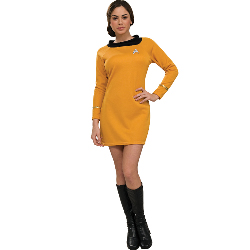 Star Trek Classic Gold Dress Deluxe Adult Costume 100-180029