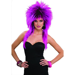 80's Purple Pizazz Adult Wig  100-179553
