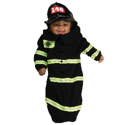 Firefighter Deluxe Bunting Infant Costume 100-185397