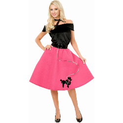 Poodle Skirt, Top & Scarf Adult Plus Costume 100-180511