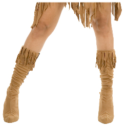 Indian Maiden Suede Adult Boot Covers 100-180573