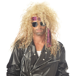 Heavy Metal Rocker Blonde Adult Wig 100-179051