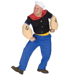 Popeye Adult Plus Costume 100-178833