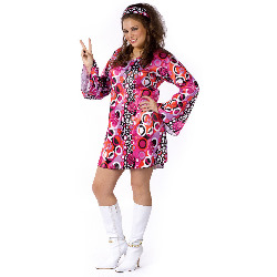 Feelin' Groovy Adult Plus Costume 100-178869