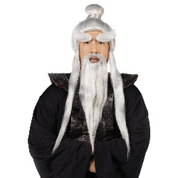 Sensei Wig and Beard Set 100-178945