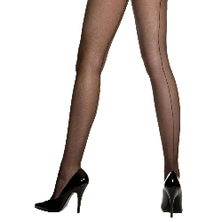 Sheer Backseam Pantyhose (Black) - Adult 100-185148