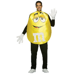 M&Ms Yellow Poncho Adult Costume 100-178824
