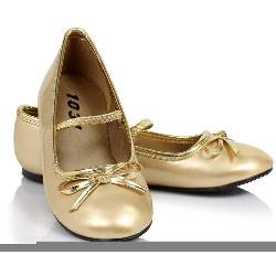 Ballet Flat (Gold) Child Shoes 100-185867