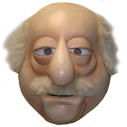 The Muppets Waldorf Overhead Latex Mask 100-186199
