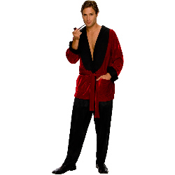 Playboy Men's Smoking Jacket Adult Costume 100-186715
