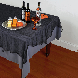 Black Cheesecloth Tablecover 100-197999