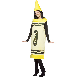 Crayola Yellow Crayon Adult Costume 100-188529