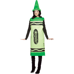 Crayola Green Crayon Adult Costume 100-188531