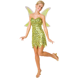 Sequin Deluxe Tinkerbell Adult Costume 100-194668
