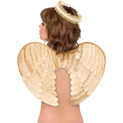 Gold  Velvet Angel Wings and Halo Accessory Kit (Adult) 100-194696