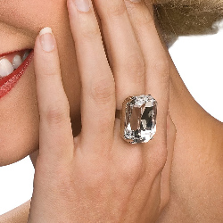Faux Diamond Ring 100-195393