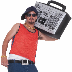 Hip Hop Inflatable Boom Box 100-195628