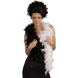 Black & White Adult Feather Boa 100-195657