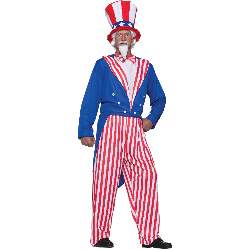 Uncle Sam Adult Plus Costume 100-195710