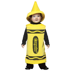 Yellow Crayola Crayon Toddler Costume 100-195783
