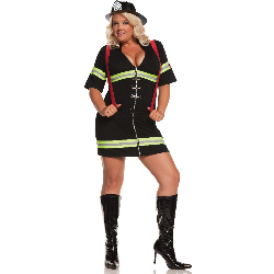 Ms. Blazin' Hot Adult Plus Costume 100-196158