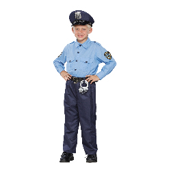 Deluxe Policeman Child Costume 100-196519