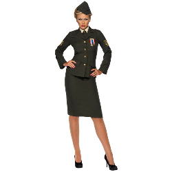 Wartime Officer Female Adult Costume 100-196705