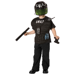 S.W.A.T. Officer Child Costume Kit 100-196885