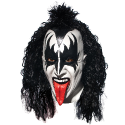 KISS Demon Deluxe Latex Full Mask With Hair (Adult) 100-215385
