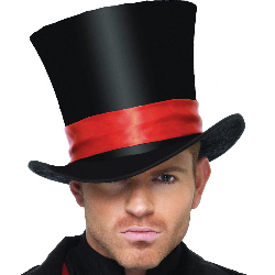 Deluxe Velvet Top Hat Adult 100-198032