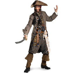 Captain Jack Sparrow Theatrical Adult Costume 100-198533