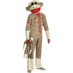 Sock Monkey Adult Costume 100-198605
