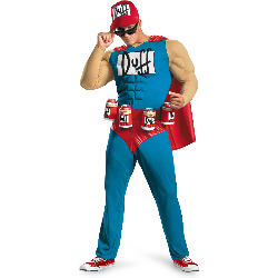 The Simpsons - Duffman Classic Muscle Adult Costume 100-198618