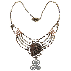 Steampunk Gear Chain Antique Necklace Adult 100-198450