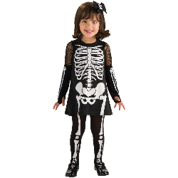 Skeleton Girl Toddler Costume 100-211353