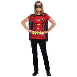 Robin (Female) T-Shirt Adult Costume Kit 100-212046