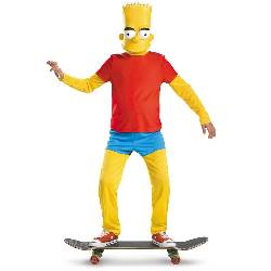 The Simpsons Bart Simpson Deluxe Child Costume 100-214168